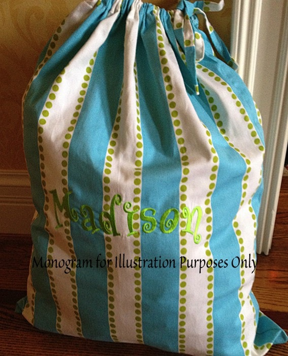 The Sack - Blue, Green and Pink Fabrics - liz-and-roo-fine-baby-bedding.myshopify.com - 1
