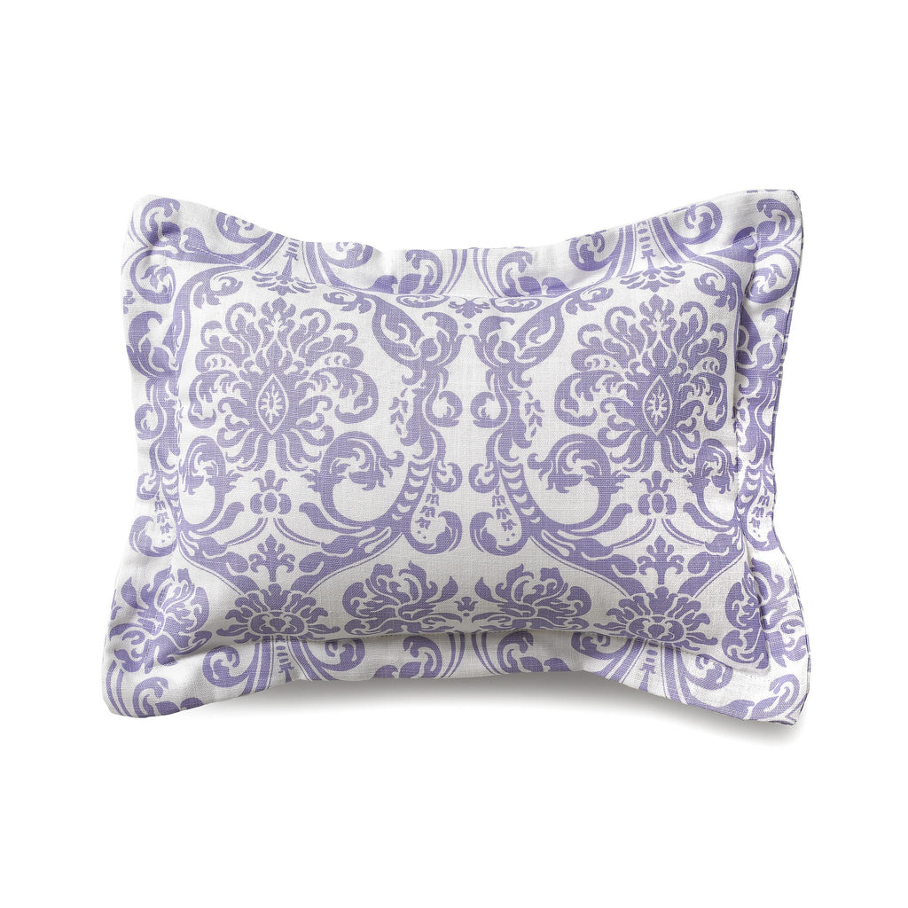 Abigail (Lavender) Damask Baby Pillow Sham - liz-and-roo-fine-baby-bedding.myshopify.com - 1