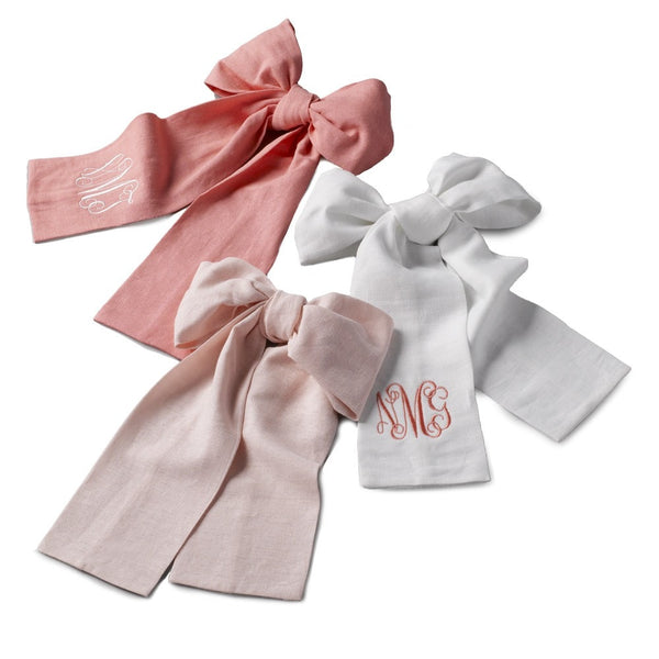 Linen Bows - liz-and-roo-fine-baby-bedding.myshopify.com