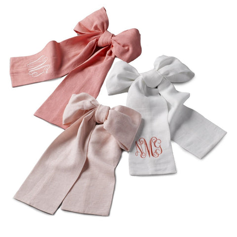 Linen Bows (for Bassinet or Crib)