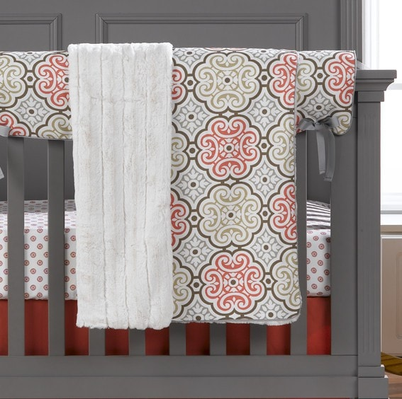 Garden Gate Minky Receiving Blanket - liz-and-roo-fine-baby-bedding.myshopify.com