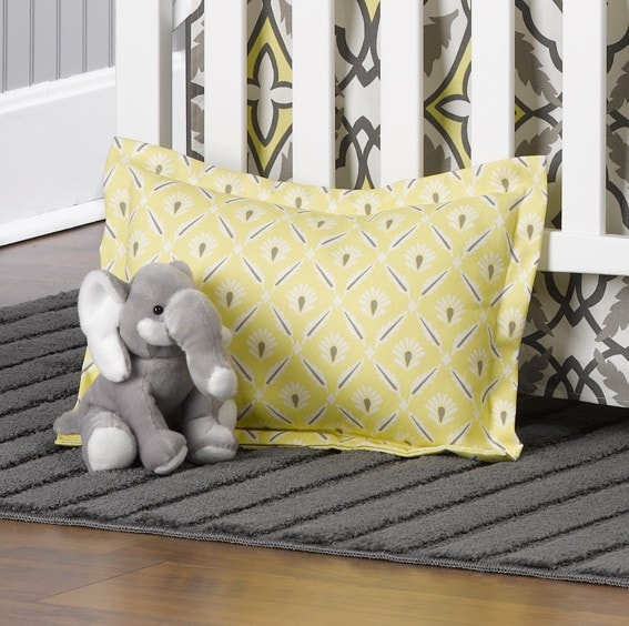 "Eden Collection ""Clover"" Baby Pillow Sham - liz-and-roo-fine-baby-bedding.myshopify.com"