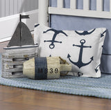 Navy Metro Anchors Crib Bedding (Bumperless) - liz-and-roo-fine-baby-bedding.myshopify.com - 4
