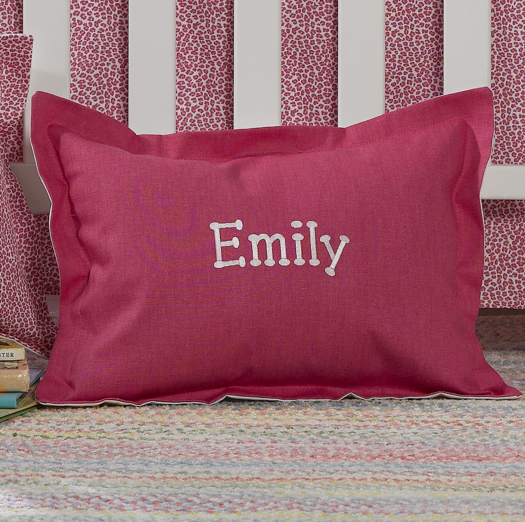 Hot Pink Baby Pillow Sham - liz-and-roo-fine-baby-bedding.myshopify.com - 1