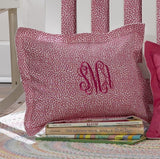 Hot Pink Wild Baby Pillow Sham - liz-and-roo-fine-baby-bedding.myshopify.com - 1