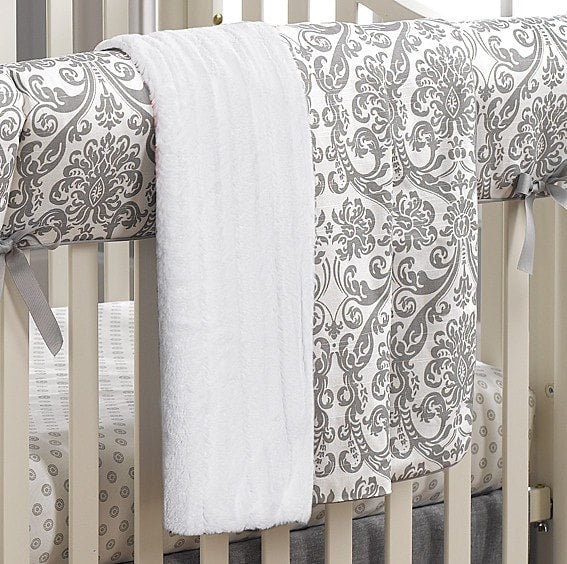 Madison Damask Minky Receiving Blanket - liz-and-roo-fine-baby-bedding.myshopify.com - 1