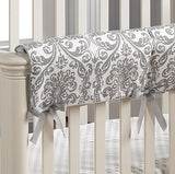 Madison (Gray) Linens Bumperless Crib Bedding - liz-and-roo-fine-baby-bedding.myshopify.com - 4