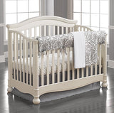 Madison (Gray) Linens Bumperless Crib Bedding - liz-and-roo-fine-baby-bedding.myshopify.com - 1