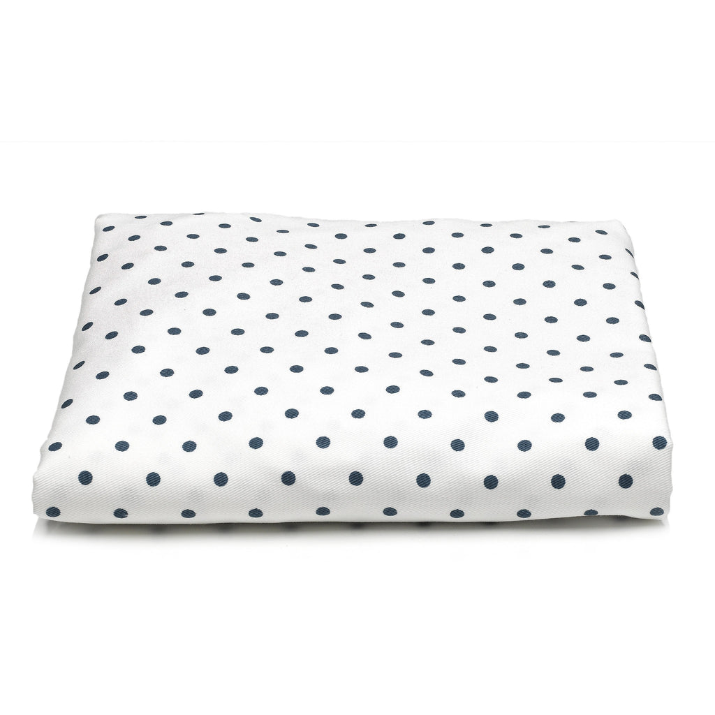 navy mini dots crib sheet