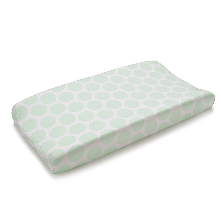 Mint Dot Contoured Changing Pad Cover - liz-and-roo-fine-baby-bedding.myshopify.com