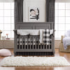 Modern (Black and White) Bumperless Crib Bedding