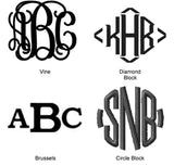 Initial Monogram Font Options