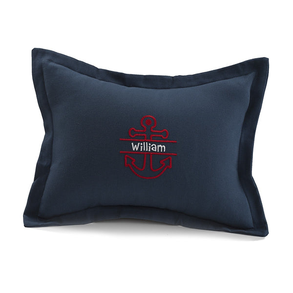 Navy Solid Baby Pillow Sham - liz-and-roo-fine-baby-bedding.myshopify.com - 1
