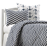 Navy Chevron Bedding Set (Twin) - liz-and-roo-fine-baby-bedding.myshopify.com - 1