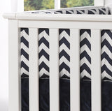 Navy Chevron Crib Bumpers - liz-and-roo-fine-baby-bedding.myshopify.com - 1