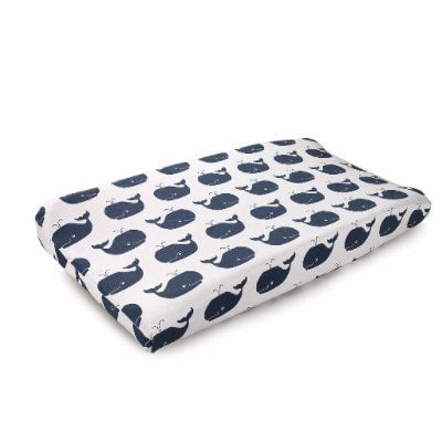 Nautical Whales Contoured Changing Pad Cover