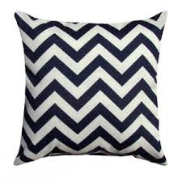 Navy Chevron Throw Pillows - liz-and-roo-fine-baby-bedding.myshopify.com