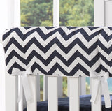 Navy Chevron Crib Rail Cover - liz-and-roo-fine-baby-bedding.myshopify.com - 1