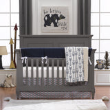 Navy Archery Crib Bedding with Arrows
