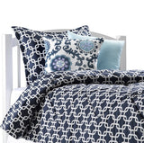 Navy Metro Bedding Set (Twin and Full) - liz-and-roo-fine-baby-bedding.myshopify.com - 1