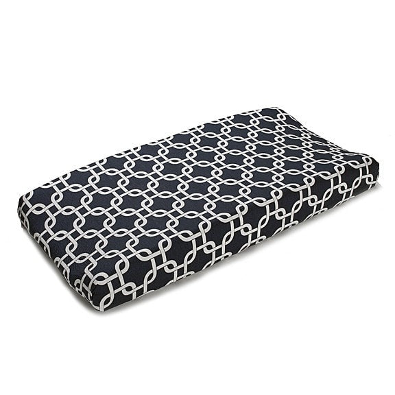 Navy Metro Contoured Changing Pad Cover - liz-and-roo-fine-baby-bedding.myshopify.com - 1
