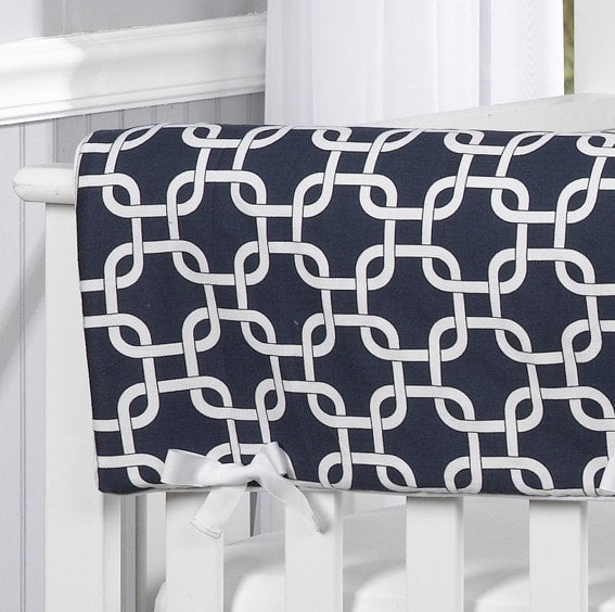 Navy Metro Rail Cover - Second - liz-and-roo-fine-baby-bedding.myshopify.com