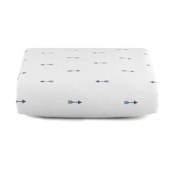 Navy Mini Arrows Crib Sheet