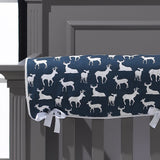 Navy Woodland Crib Bedding (Bumperless) - liz-and-roo-fine-baby-bedding.myshopify.com - 2