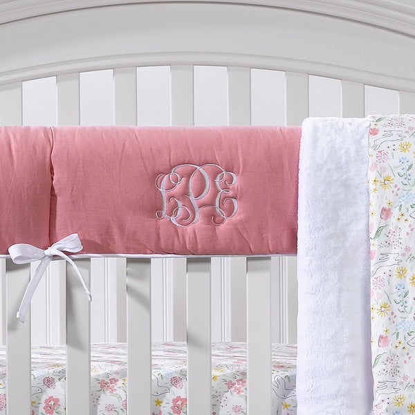 Nectar Linen Crib Rail Cover - liz-and-roo-fine-baby-bedding.myshopify.com - 1