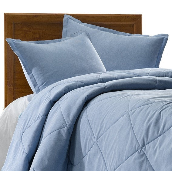 Classic Blue Oxford Cloth Bedding Set (Twin) - liz-and-roo-fine-baby-bedding.myshopify.com