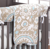 Taupe Suzani Window Treatments - liz-and-roo-fine-baby-bedding.myshopify.com - 3