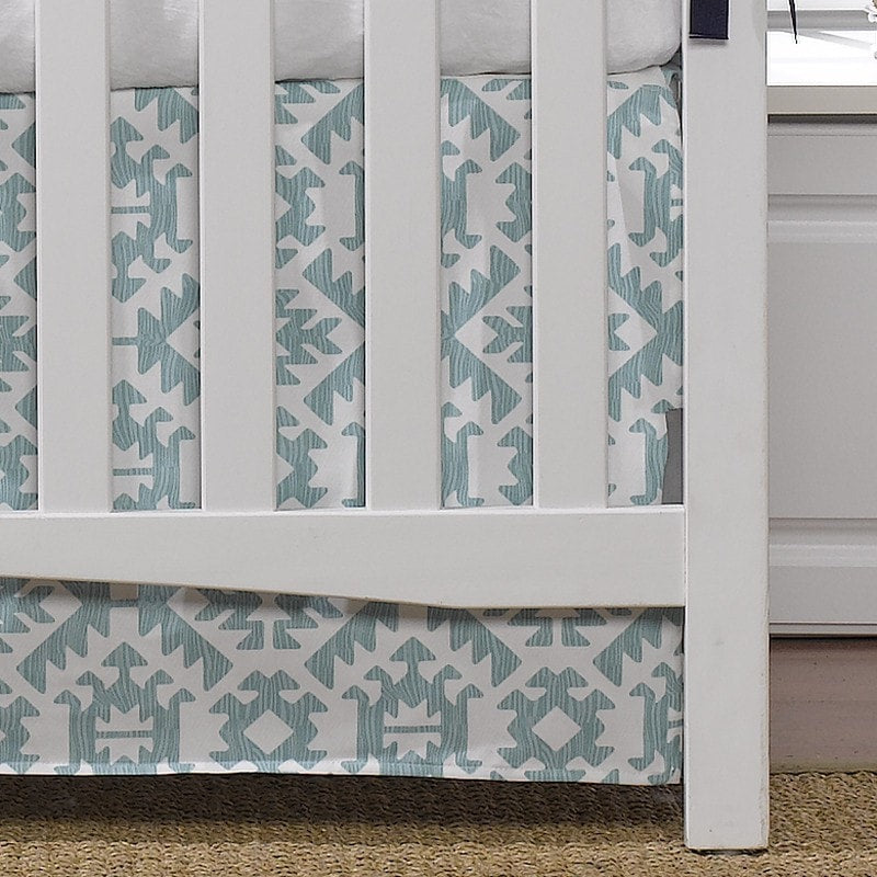 "Pawnee Crib Skirt 17"" Drop - liz-and-roo-fine-baby-bedding.myshopify.com - 1"