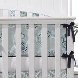 Coastal Blue Peru Crib Rail Cover - liz-and-roo-fine-baby-bedding.myshopify.com - 1