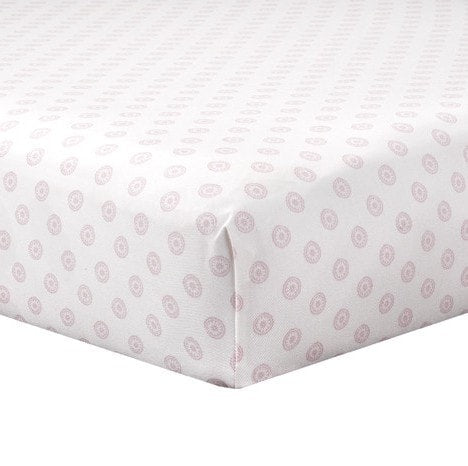 Pink Chelsea Crib Sheet - liz-and-roo-fine-baby-bedding.myshopify.com