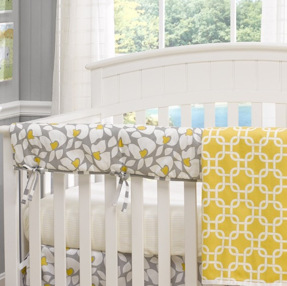 Poppy Crib Rail Cover - Discontinued Size - liz-and-roo-fine-baby-bedding.myshopify.com