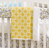 "Yellow Metro Crib Skirt - 17"" Drop - Sample - liz-and-roo-fine-baby-bedding.myshopify.com - 2"