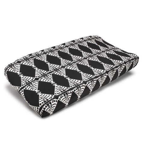 Pow Wow (Black and White) Contoured Changing Pad Cover
