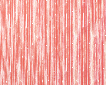 "Coral Scribble Crib Skirt 17"" Drop - liz-and-roo-fine-baby-bedding.myshopify.com"