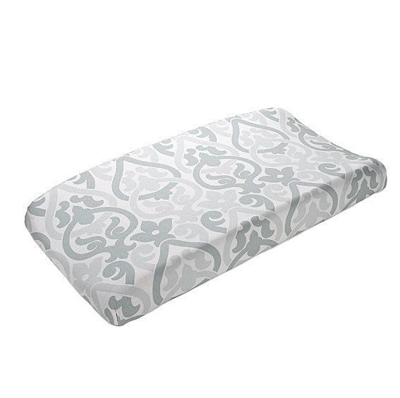 Snowy Alexa Contoured Changing Pad Cover - liz-and-roo-fine-baby-bedding.myshopify.com