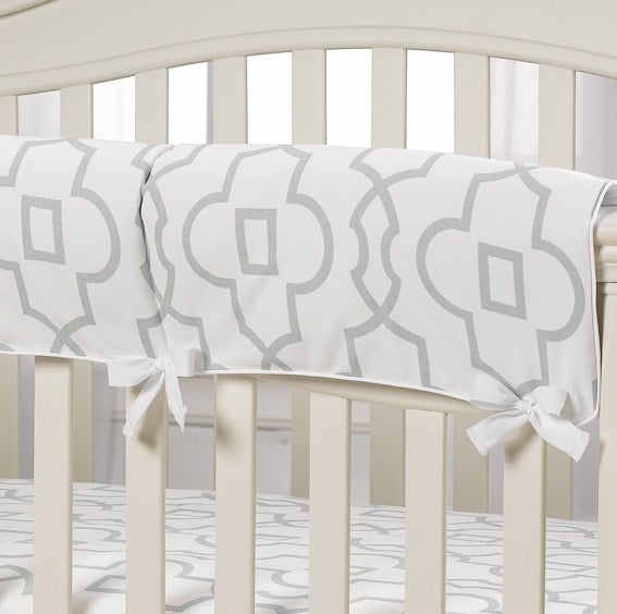 Snowy Willow Crib Rail Cover - Second - liz-and-roo-fine-baby-bedding.myshopify.com