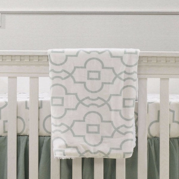 Snowy Willow Minky Receiving Blanket - liz-and-roo-fine-baby-bedding.myshopify.com