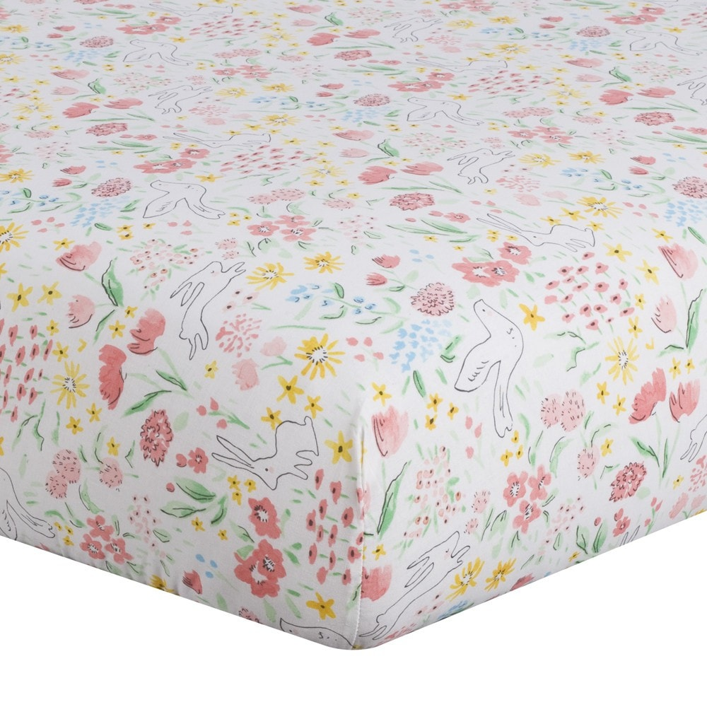 Spring Garden (Multi) Crib Sheet - liz-and-roo-fine-baby-bedding.myshopify.com
