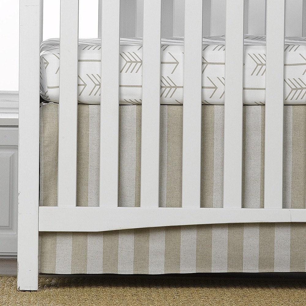 "Cloud Linens Stripe Crib Skirt 17"" Drop"