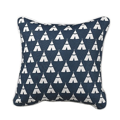 Navy Teepee Pillow Accent Pillow - liz-and-roo-fine-baby-bedding.myshopify.com
