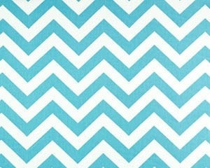 Girly Blue Chevron Lined Curtains - liz-and-roo-fine-baby-bedding.myshopify.com