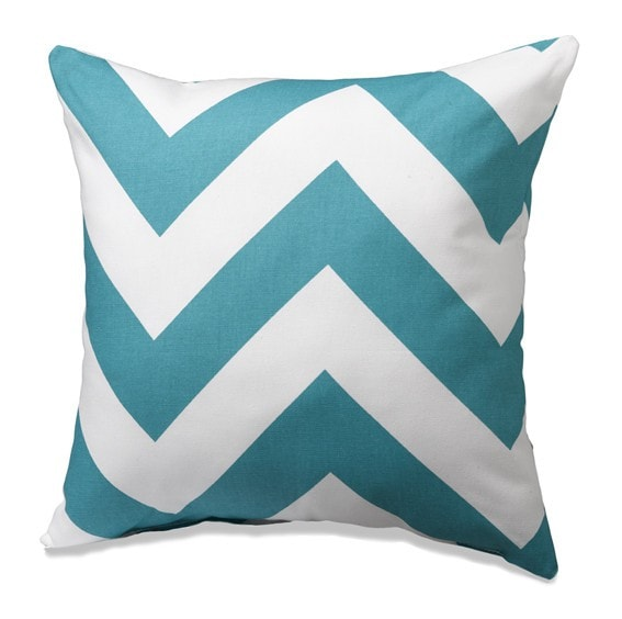 Turquoise Wide Chevron Throw Pillows - liz-and-roo-fine-baby-bedding.myshopify.com