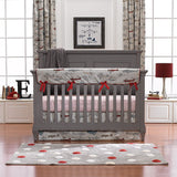 Gray Classic Stripe Crib Sheet