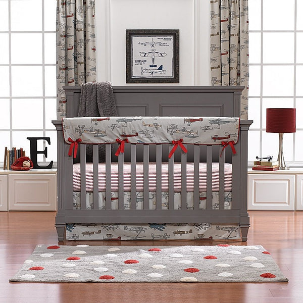 Airplanes Bumperless Crib Bedding Airplane Baby Bedding