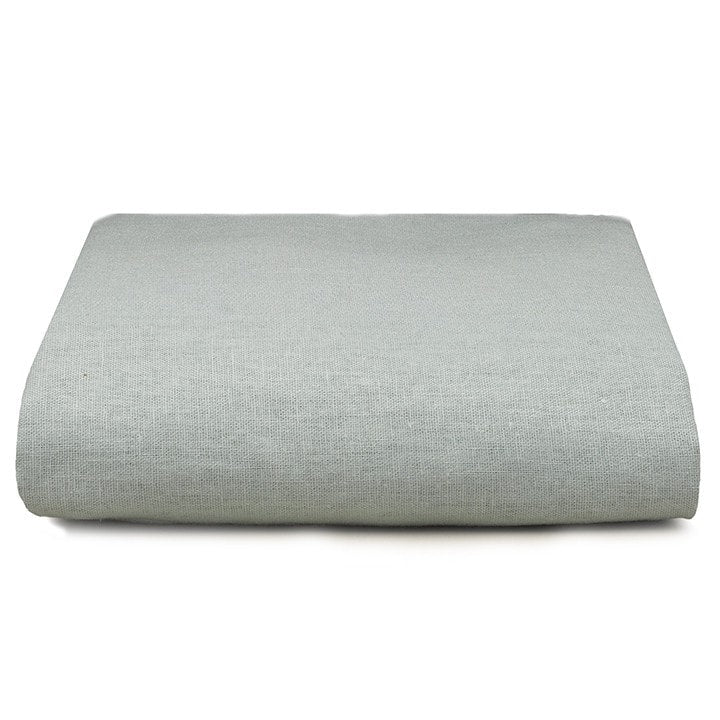 Willow (Mist) Linen Blend Crib Sheet