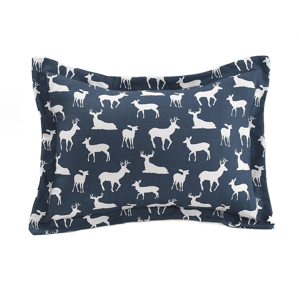 Navy Woodland Baby Pillow Sham - liz-and-roo-fine-baby-bedding.myshopify.com - 1
